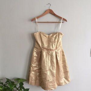 Gold Shoshanna Cocktail Dress
